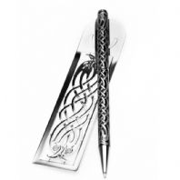 Pen & Bookmark Celtic Birds Design (2)